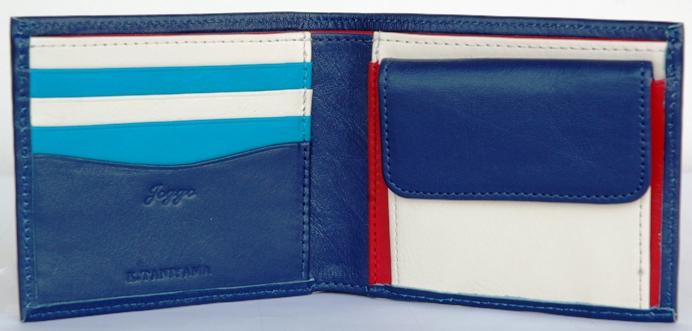 トリコロールの二つ折り財布