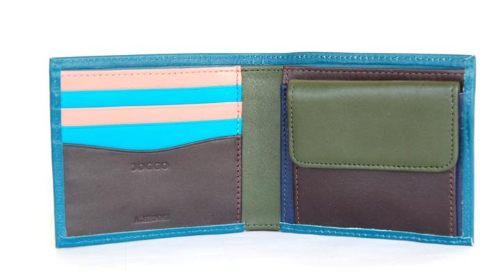 ターコイズの映える二つ折り財布