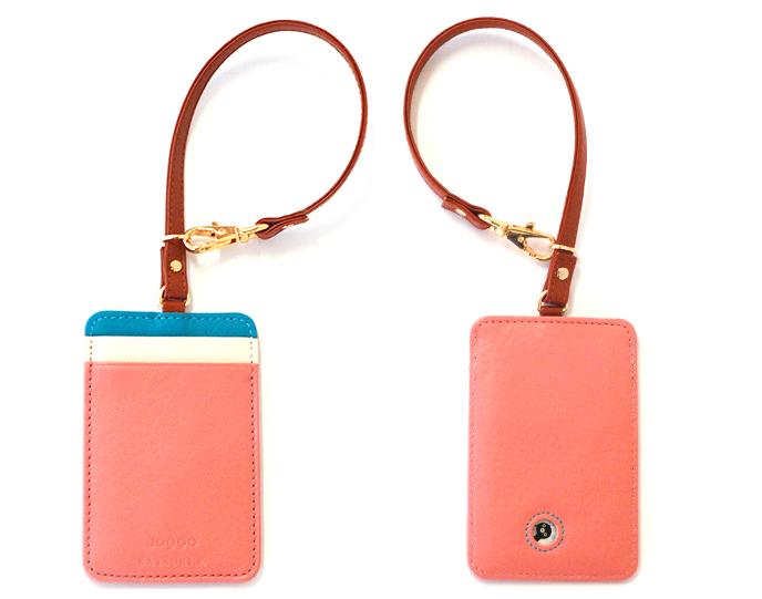 ピンクのパスケース