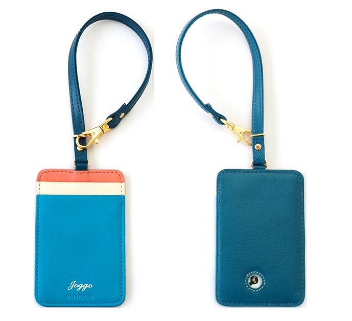 ブルーでまとまったパスケース