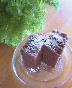 レンジで簡単チョコケーキ