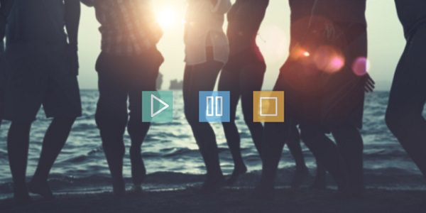 Music Video Play Pause Button Multimedia Internet Concept