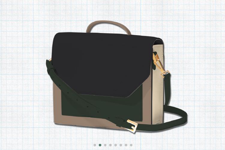 ピュアブラックを使用した2wayエンベロープミニバッグの画像