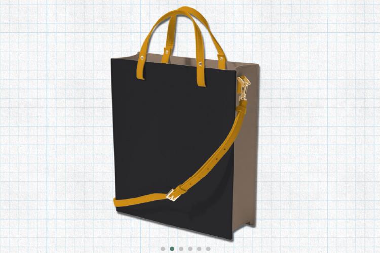 ピュアブラックを使用した2wayトートバッグの画像