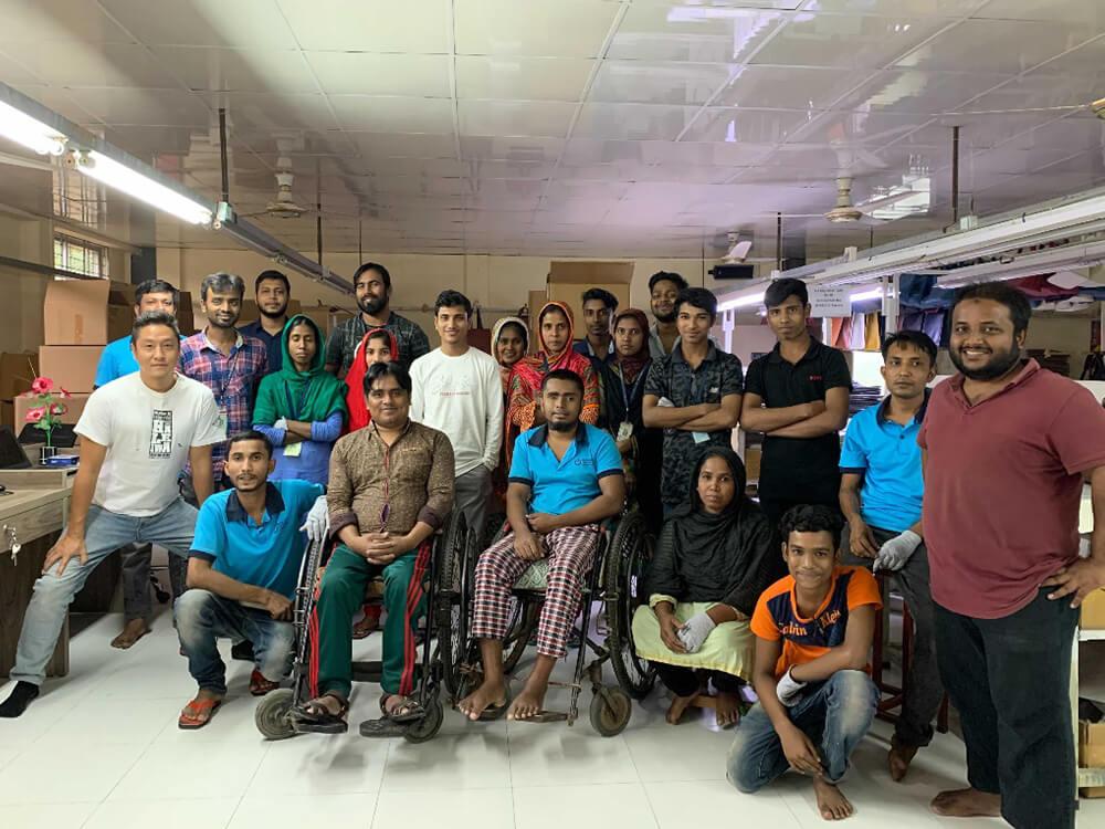 バングラデシュ工場にて