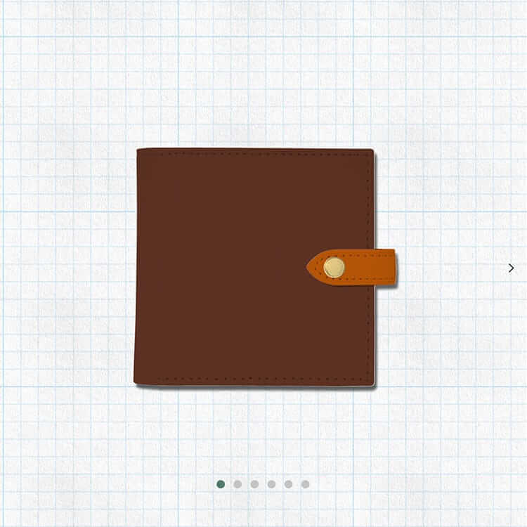 ENISHI2つ折り財布(ブラウンベース)