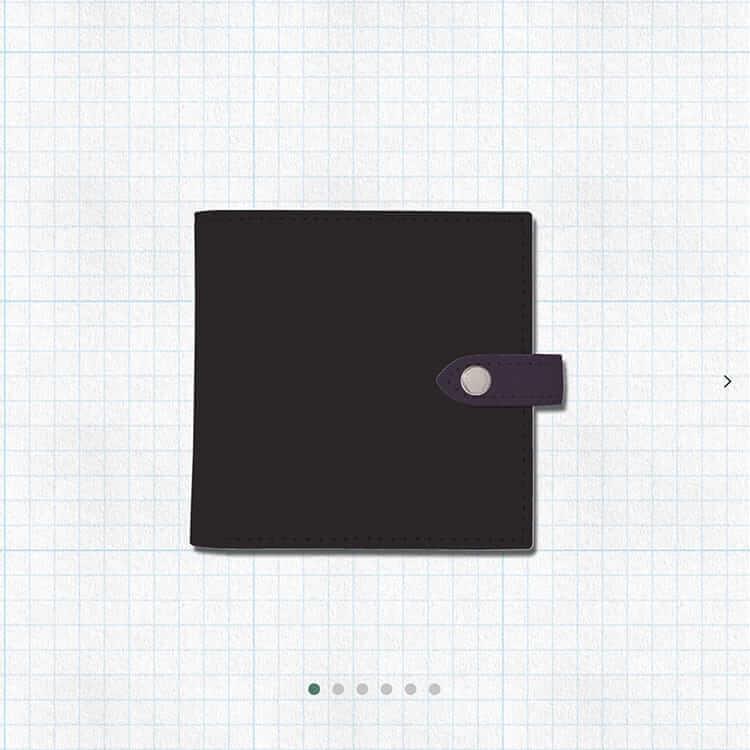 ENISHI2つ折り財布(ブラックベース)