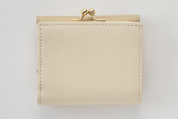 革製のがま口財布写真