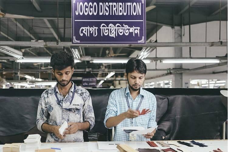 バングラデシュ工場のJOGGO専任チーム