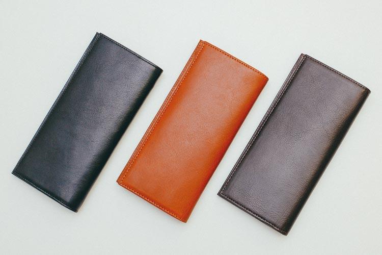 すっきり見える定番フォルムのスリム長財布(カード収納13段)