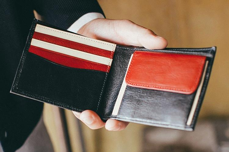 2つ折り財布(小銭入れ付き) 内側写真