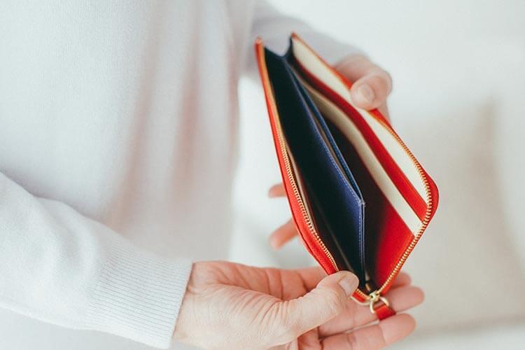 Lファスナー長財布(バイカラー) 内側の写真