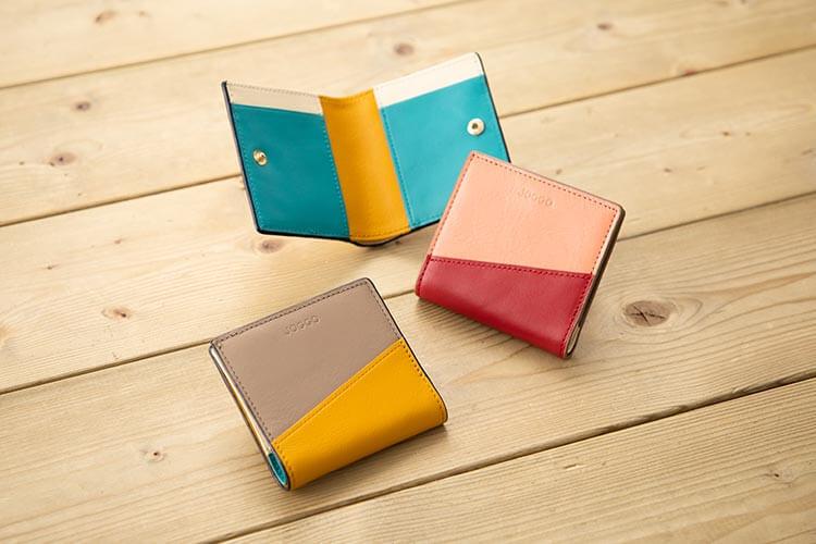 2つ折りエッジカラー財布(アシンメトリー) 商品写真