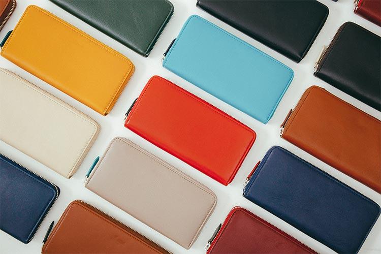 14色から選んでつくるオーダーメイド革財布