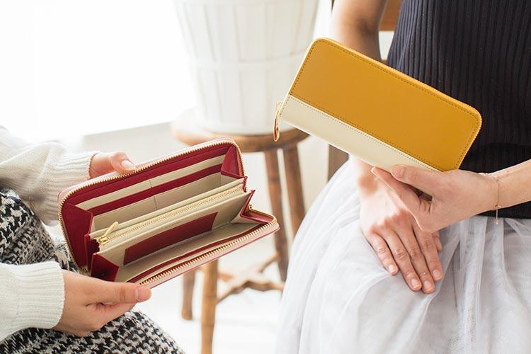 シンプルラウンド長財布(バイカラー)